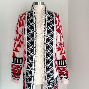 Oversized Tribal Cardigan by Bethany Mota